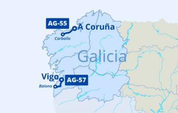 Mapa AG-55 y AG-57